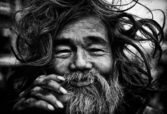 Old Man Black and White Photography