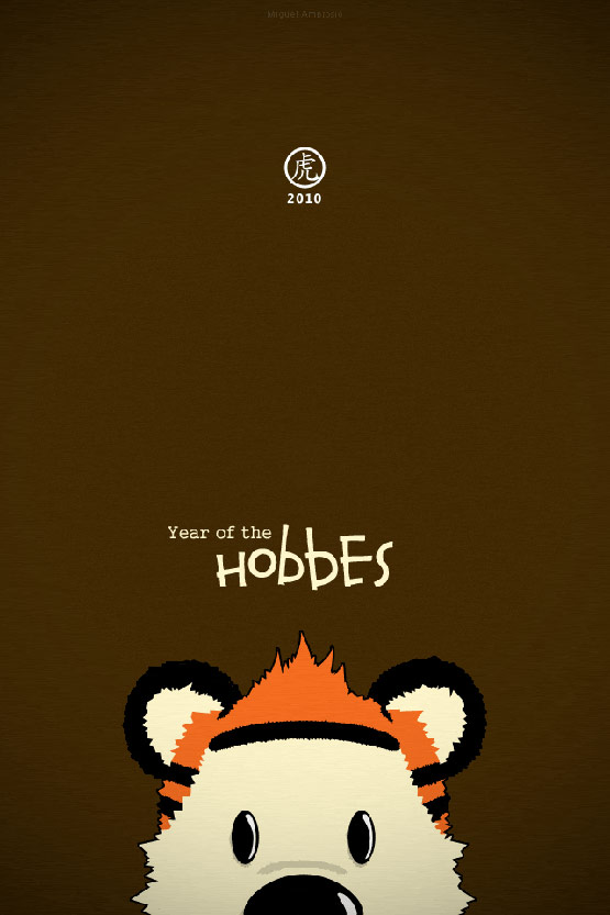 Year of the hobbes - iPhone 4 Wallpaper