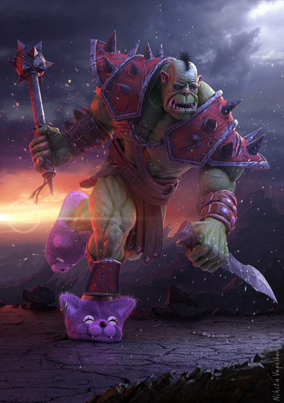 Orc, 3D Digital Art