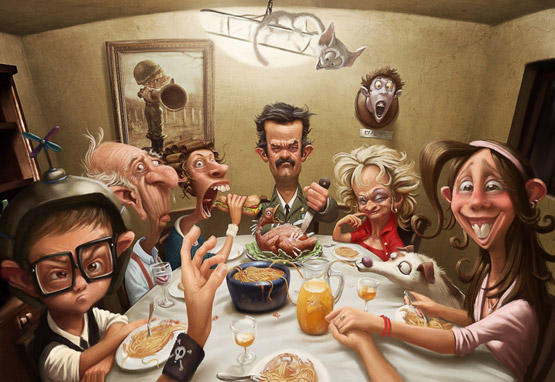 Dining Character Illustration, Tiago Hoisel