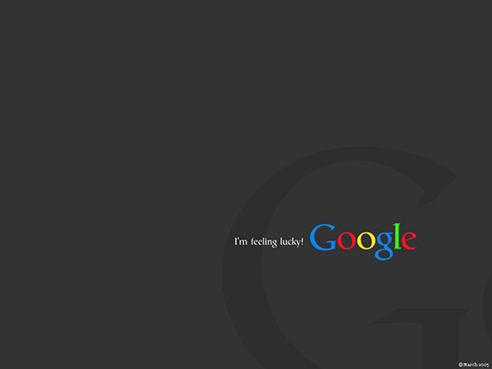 I'm feeling lucky! Black Google Wallpaper