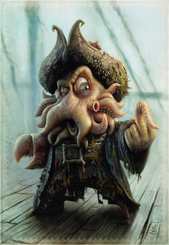 Davy Jones Character Illustration, Tiago Hoisel