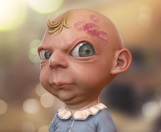 Baby Friendly Character Illustration, Tiago Hoisel