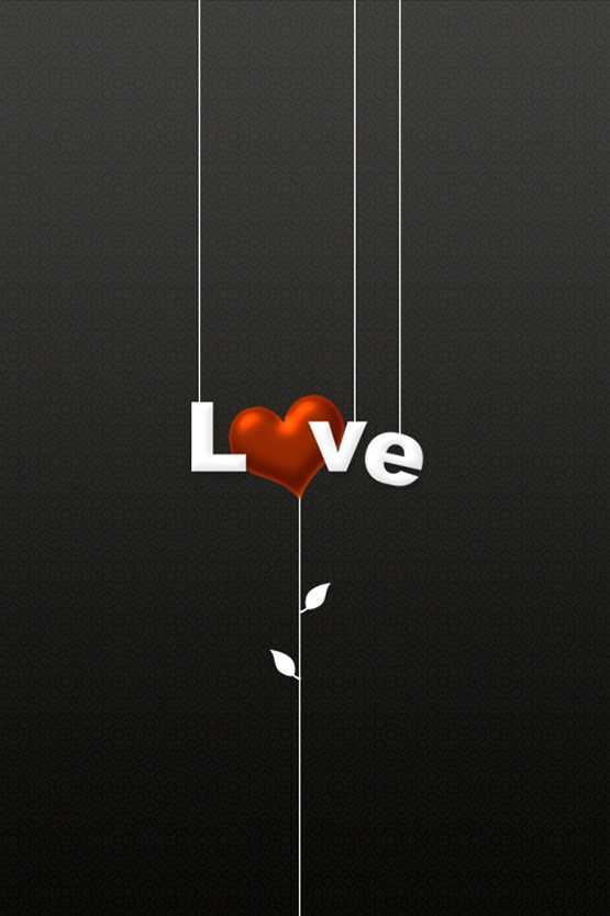 Love iPhone 4 Wallpaper