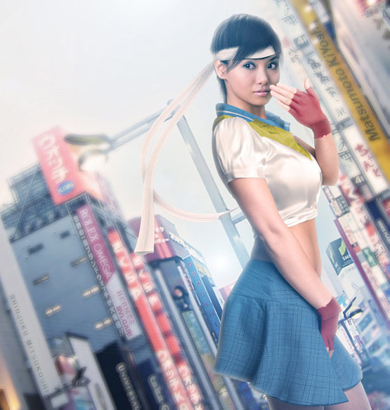 06 Sakura Street Fighter Art in 24 Hyper Realistic Examples of Street Fighter Characters Art