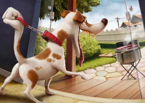 Barbecue Dog Training School Illustration, Tiago Hoisel