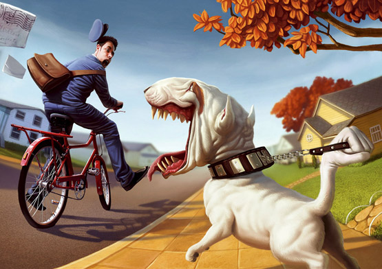 Dog Training School Illustration, Tiago Hoisel