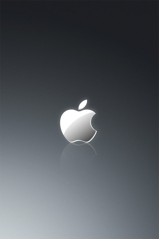 Apple Grey iPhone 4 Wallpaper