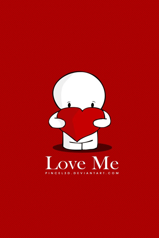 Love me iPhone 4 Wallpaper