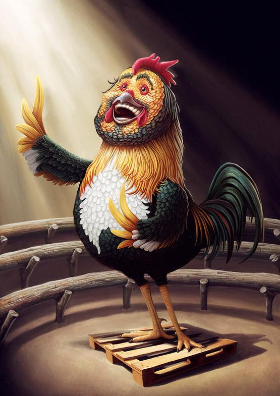 Pavarotti CharacterIllustration, Tiago Hoisel