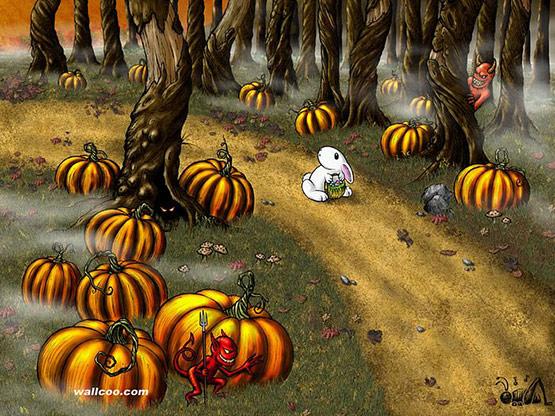 14, Bunny Halloween Wallpaper