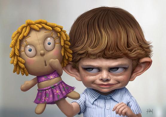 Generation Internet CharacterIllustration, Tiago Hoisel