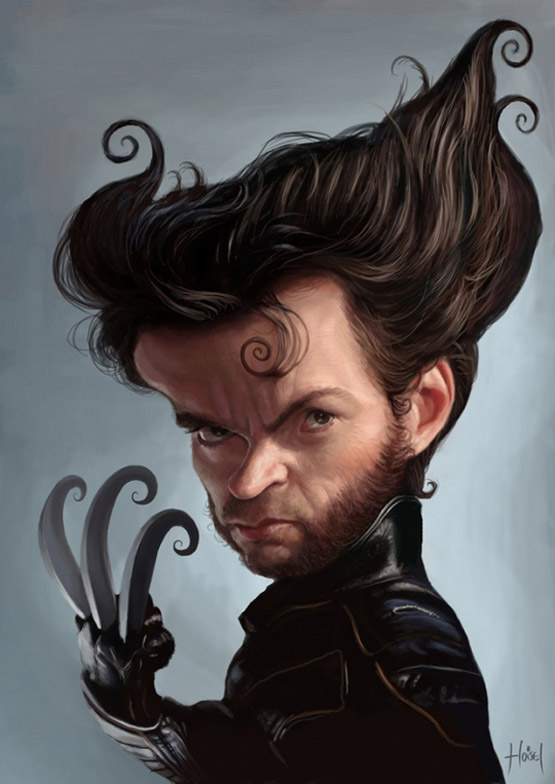 Hugh Jackman Character Illustration, Tiago Hoisel