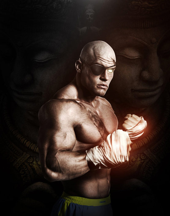 21 Sagat They Call Me The King Street Fighter Art in 24 Hyper Realistic Examples of Street Fighter Characters Art