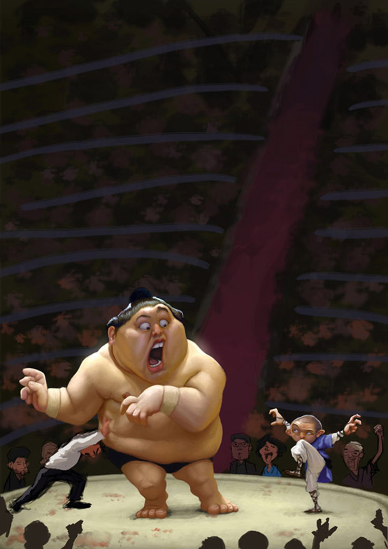 Sumo Character Illustration, Tiago Hoisel