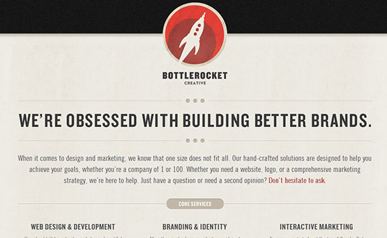 Bottle Rocket, Latest Trend of Logos in Web Design