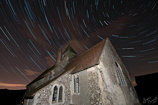 Star Trails, Perseid Meteor Shower