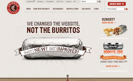 Chipotle, Latest Trend of Logos in Web Design
