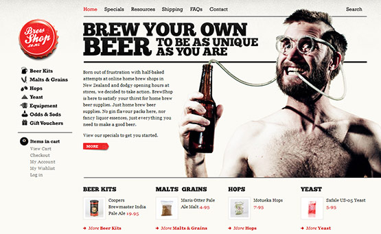 Brew Shop, Latest Trend of Logos in Web Design