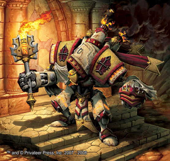 19 of 30, Templar Warmachine, Digital Painting for Privateer Press