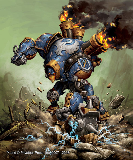 21 of 30, Rowdy Warmachine, Digital Painting for Privateer Press
