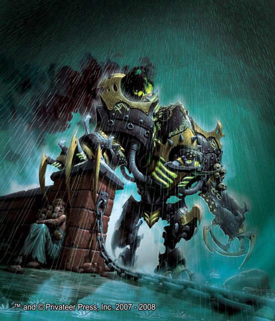 22 of 30, Nightmare Warmachine, Digital Painting for Privateer Press