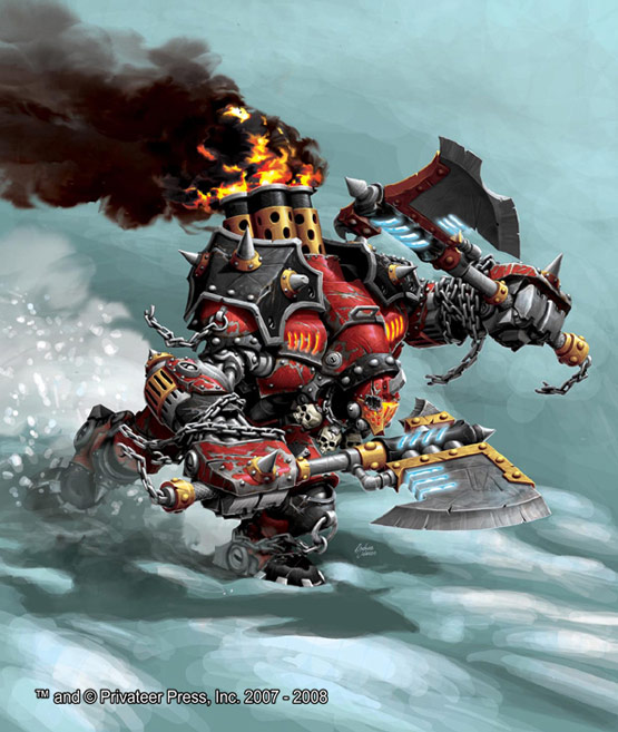 26 of 30, Drago Warmachine, Digital Painting for Privateer Press