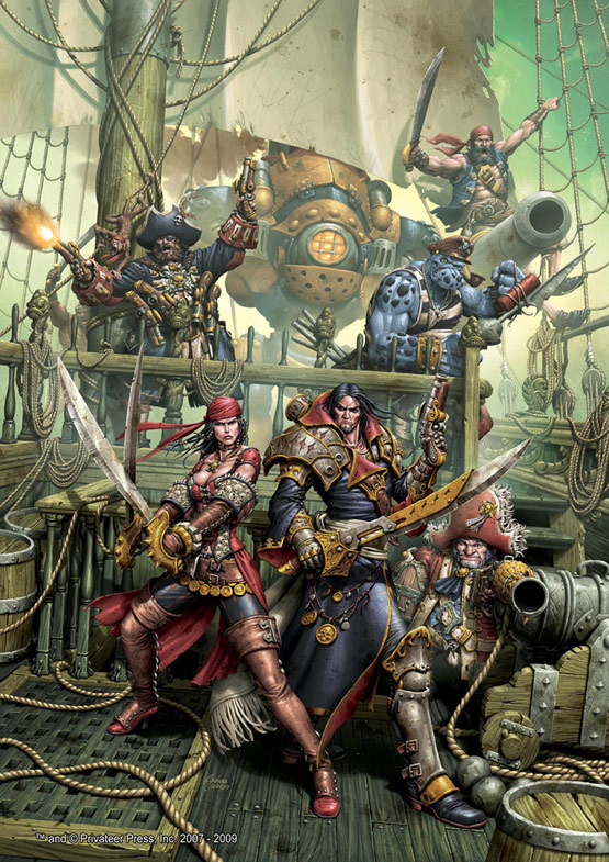 28 of 30, Pirates Cover Warmachine, Digital Painting for Privateer Press