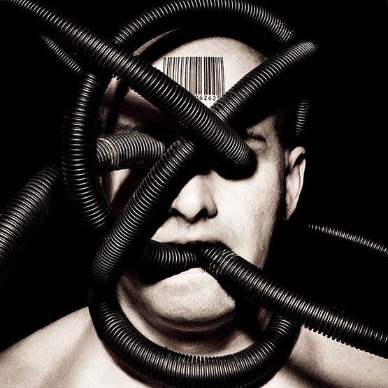 Never a Machine, Bizarre Photo Manipulation of Self Portrait