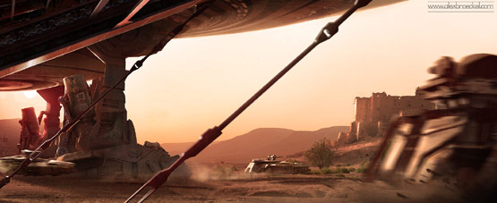 The Force Matte Painting in Fantastic Illustrations and Concept Art