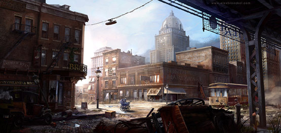 Last Century NYC in Fantastic Illustrations and Concept Art