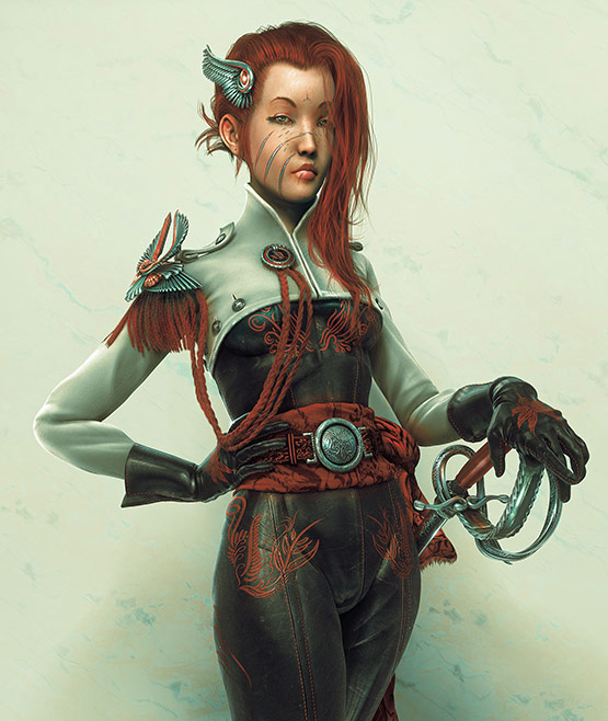02 of 10, Astonishing CG Female Characters from 3D Artist
