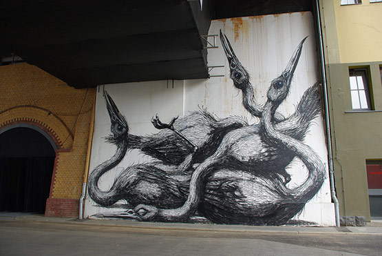 1717 in Graffiti Street Art of Animals