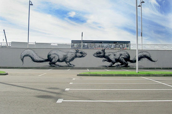 1718 in Graffiti Street Art of Animals