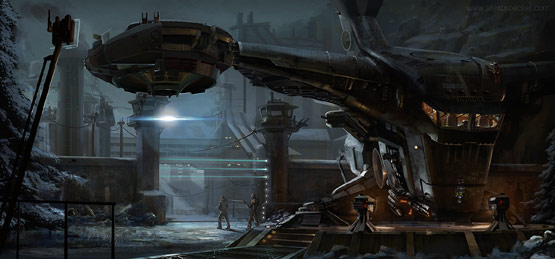 Dropship in Fantastic Illustrations and Concept Art