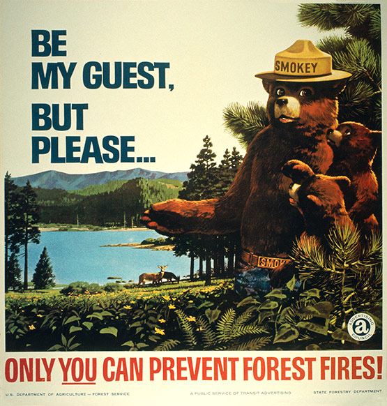 04 Smokey BeMyGuest in Smokey the Bear: Historic Print Ads