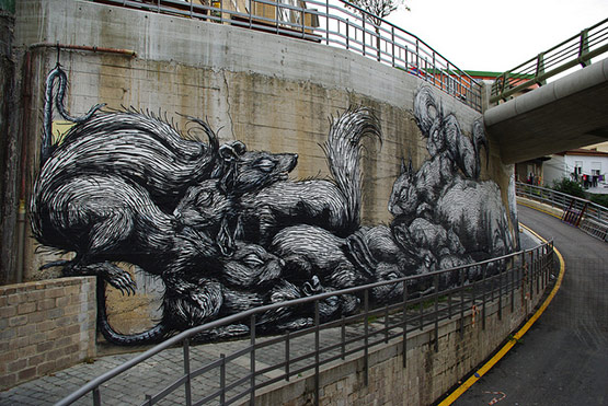 1720 in Graffiti Street Art of Animals