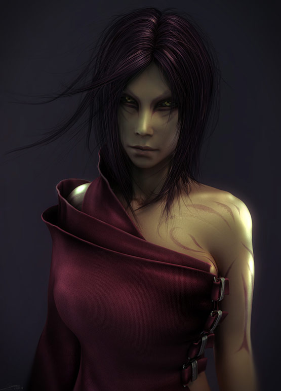 06 of 10, Astonishing CG Female Characters from 3D Artist