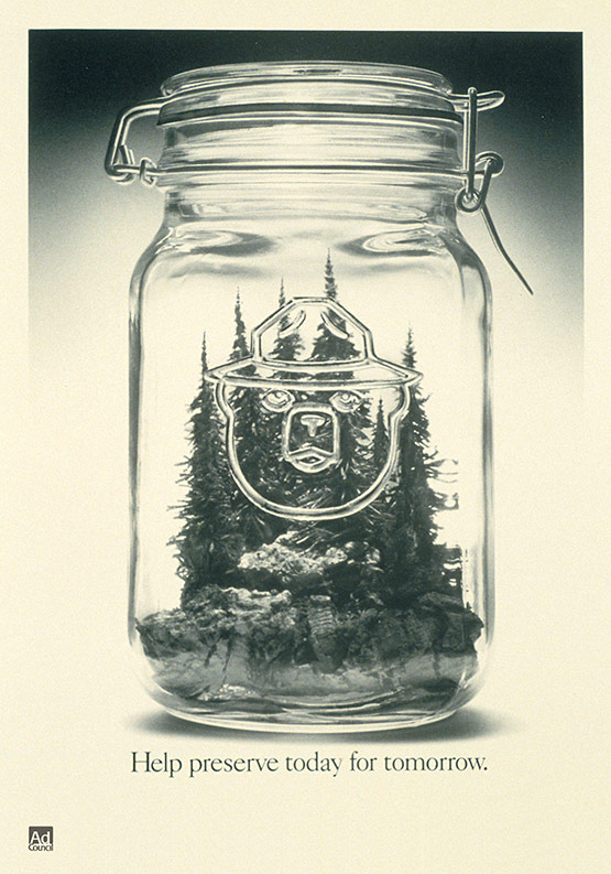 Smokey the Bear, Glass Jar
