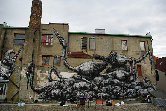 1722 in Graffiti Street Art of Animals