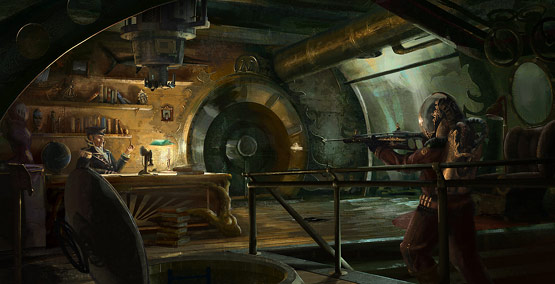 Captain Nemos Office in Fantastic Illustrations and Concept Art