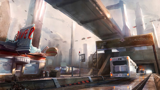 RetroDiner in Fantastic Illustrations and Concept Art