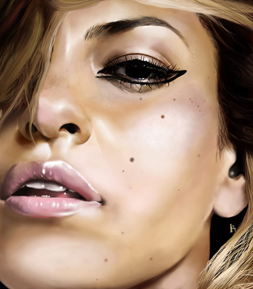 Eva Mendez in 10 Portrait Paintings That Look Like Photographs