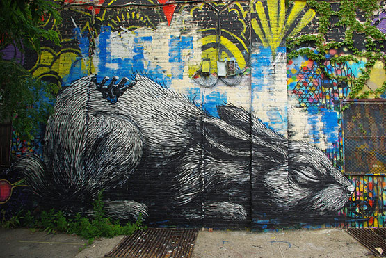 1732 in Graffiti Street Art of Animals