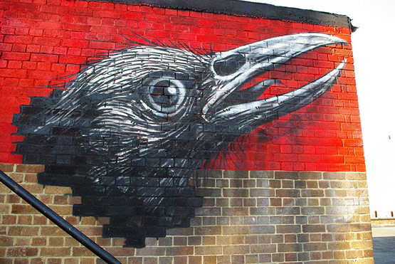 1738 in Graffiti Street Art of Animals