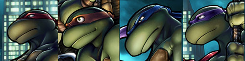 Turtles Headshots in Teenage Mutant Ninja Turtles (TMNT) Artworks
