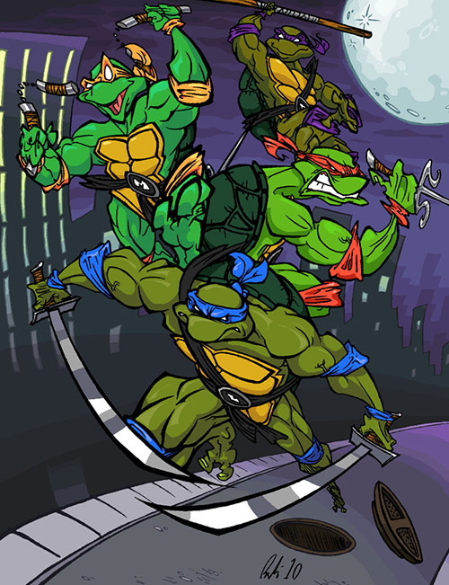 Teenage Mutant Ninja Turtles (TMNT) Artworks