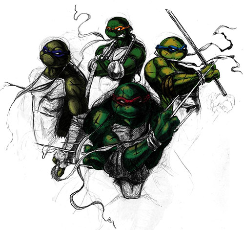 Ninja Turtles in TMNT Artworks