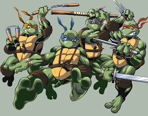 Mutant Ninja Turtles in TMNT Artworks