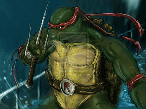 Teenage Mutant Cranky Turtle in TMNT Artworks